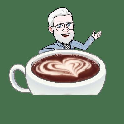 Emoji d'un homme avec un café