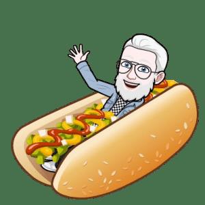 Emoji d'un homme dans un hot dog